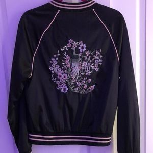 Susie shier floral embroidered bomber jacket